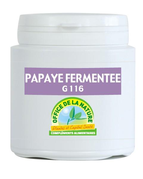 papaye fermentée, augmente la production d'antioxydants.