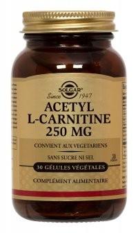 Acétyl-L-carnitine Solgar : anti-vieillissement naturel