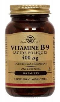 Vitamine B9 : acide folique Solgar : pour la maman enceinte