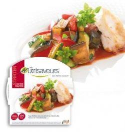 Aiguillettes de poulet et sa ratatouille : plats préparés protéinés